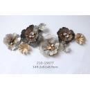 鐵花壁飾- y16360 鐵材藝術 - 鐵雕壁飾系列 / 立體壁飾-花、植物系列(美式背牆壁掛.歐式客廳背景牆面裝飾壁飾)