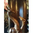 木雕長頸鹿-y15217-.木.竹.根雕