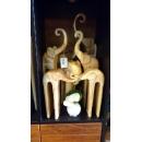 大象-自然色7入-y15191.木.竹.根雕