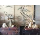 鹿擺飾/對-y15282-木.竹.根雕