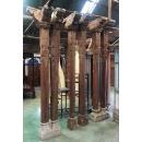 印度古董雕刻樑柱/六柱一組-y15352-木.竹.根雕 (已售出)