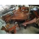 老柚木/1桌4椅-y15353-木.竹.根雕