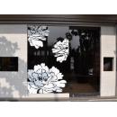 y11662藝術招牌設計-壁飾-牡丹花摟空壁飾