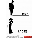 不銹鋼洗手間廁所標示牌訂製-男/女-(y15062藝術招牌設計-鐵雕招牌系列)