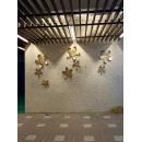 立體鐵花-玫瑰金色/組-y15354-金色-立體壁飾-花