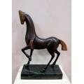 y14081 銅雕系列- 銅雕動物 - 銅雕藝術馬(古銅色)*