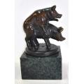 y14082 銅雕系列- 銅雕動物 - 銅雕快樂豬--無庫存