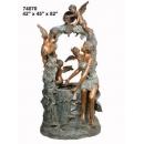 銅雕系列-銅雕大型擺飾- 美女與天使 y14133 立體雕塑.擺飾 人物立體擺飾系列-西式人物系列