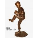銅雕系列-銅雕大型擺飾-投球男孩 y14134 立體雕塑.擺飾 人物立體擺飾系列-西式人物系列