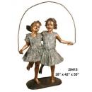 銅雕系列-銅雕大型擺飾-跳繩女孩 y14135 立體雕塑.擺飾 人物立體擺飾系列-西式人物系列