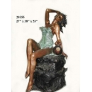 銅雕系列-銅雕大型擺飾-性感女郎 y14139 立體雕塑.擺飾 人物立體擺飾系列-西式人物系列