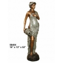 銅雕系列-銅雕大型擺飾-提水女郎 y14140 立體雕塑.擺飾 人物立體擺飾系列-西式人物系列