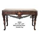 y14147 銅雕系列-銅雕擺飾- 長型桌(古銅色)