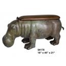 y14160 銅雕系列-銅雕擺飾-河馬造型椅