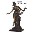 銅雕系列-銅雕人物-維納斯彈琴女 y14169 立體雕塑.擺飾 人物立體擺飾系列-西式人物系列