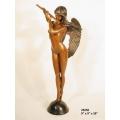 銅雕系列-銅雕人物-吹笛天使 y14171 立體雕塑.擺飾 人物立體擺飾系列-西式人物系列