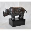 y14179 銅雕系列- 銅雕動物 - 銅雕古典犀牛*