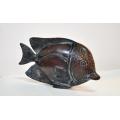 y14191 銅雕系列- 銅雕動物 - 銅雕倒吊魚*
