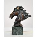 y14193 銅雕系列- 銅雕動物 - 銅雕小馬頭*