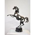 y14195 銅雕系列- 銅雕動物 - 銅雕躍馬中原*
