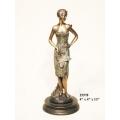 銅雕系列-銅雕人物-自信淑女 y14213 立體雕塑.擺飾 人物立體擺飾系列-西式人物系列