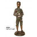 銅雕系列-銅雕人物-悠閒男孩 y14221 立體雕塑.擺飾 人物立體擺飾系列-西式人物系列