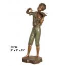 銅雕系列-銅雕人物-小提琴男孩 y14222 立體雕塑.擺飾 人物立體擺飾系列-西式人物系列
