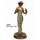 銅雕系列-銅雕人物- 赴宴 y14225 立體雕塑.擺飾 人物立體擺飾系列-西式人物系列