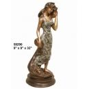 銅雕系列-銅雕人物-海邊嫵媚女 y14226 立體雕塑.擺飾 人物立體擺飾系列-西式人物系列