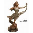 銅雕系列-銅雕人物-飛天女 y14228 立體雕塑.擺飾 人物立體擺飾系列-西式人物系列