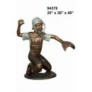 銅雕系列-銅雕人物-捕手男孩 y14233 立體雕塑.擺飾 人物立體擺飾系列-西式人物系列