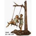 y14261 銅雕系列- 銅雕大型擺飾 - 盪鞦韆小孩