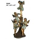 y14262 銅雕系列- 銅雕大型擺飾 - 天使女孩