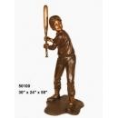y14264 銅雕系列- 銅雕大型擺飾 - 打擊男孩