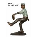 y14263 銅雕系列- 銅雕大型擺飾 - 投手小男孩