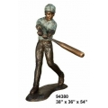 y14265 銅雕系列- 銅雕大型擺飾 - 打擊男孩