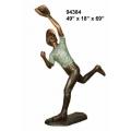 y14266 銅雕系列- 銅雕大型擺飾 - 接球男孩