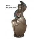 y14269 銅雕系列- 銅雕大型擺飾 - 大提琴女