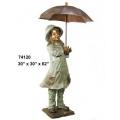 y14270 銅雕系列- 銅雕大型擺飾 - 小男孩撐傘