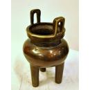 銅雕三腳鼎爐(y14440銅雕系列 銅雕擺飾 - 三腳鼎爐)