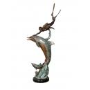 海豚(y14686 銅雕系列- 銅雕大型擺飾、銅雕動物 )