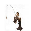 釣魚男孩(y14688 銅雕系列- 銅雕大型擺飾、銅雕人物 )
