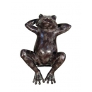 仰臥青蛙(y14692 銅雕系列- 銅雕大型擺飾、銅雕動物 )