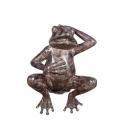 單手仰臥青蛙(y14693 銅雕系列- 銅雕大型擺飾、銅雕動物 )