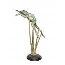 青蛙游姿(y14694 銅雕系列- 銅雕大型擺飾、銅雕動物 )