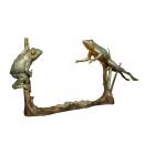 雙蛙游姿(y14695 銅雕系列- 銅雕大型擺飾、銅雕動物 )