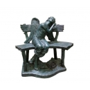 天使仰視(y14696 銅雕系列- 銅雕大型擺飾、銅雕人物 )