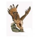 老鷹抓魚(y14697 銅雕系列- 銅雕大型擺飾、銅雕動物 )