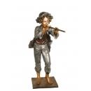 吹笛少年(y14699 銅雕系列- 銅雕大型擺飾、銅雕人物 )