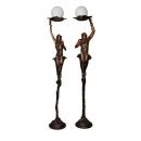花燈精靈-男款/女款(y14702 銅雕系列- 銅雕大型擺飾、銅雕人物 )